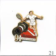 PIN´S Sport - Tennis / Roland Garros 90 - Sponsor Canon. Estampillé Arthus Bertrand. Zamac. T468-21 - Tennis