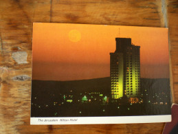 Jerusalem  Hilton Hotel By Night 1986 - Israel