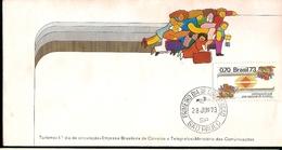 Brazil & FDC National Year Of Tourism, Meet Brazil, São Paulo 1973 (1051) - Autres