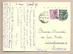 "Italia - Cartolina Postale  ""siracusana Testo Lungo"" Usata Per L'estero - 1954 - Interi Postali"