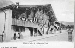 CHÂTEAU-D'OEX → Vieux Châlet Mit Vielen Bewohner, Ca.1900 - VD Vaud
