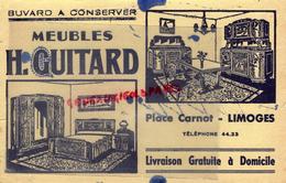 87 - LIMOGES - BUVARD MEUBLES H. GUITARD - PLACE CARNOT - Buvards, Protège-cahiers Illustrés