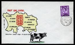 A4327) Jersey Kanalinsel FDC 18.8.1958 - Jersey