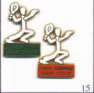 LOT 2 PIN´S Sport - Tennis / Coupe Grand Chelem - Sponsor Compaq. Estampillés Arthus Bertrand. Zamac. T468-15 - Tennis
