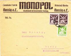 Brief-Tschechoslowakei-Schweiz/Biel.Firmenwerbung - Tchécoslovaquie