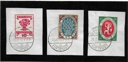 ALLEMAGNE DEUTSCHES REICH WEIMAR 1919 Mi 107-109 SONDERSTEMPEL LUFTPOST*NATIONALERSAMMLUNG - Germania
