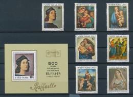 Vietnam Viet Nam MNH Perf Stamps & Souvenir Sheet 1983: 500th Birth Anniversary Of Raphael - Spanish Art Painter (Ms417) - Vietnam