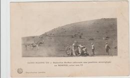 GUERRE MODERNE 1914 - BATTERIES SERBES ENLEVANT UNE POSITION STRATEGIQUE EN BOSNIE, AVEC NOS 75 - Bosnie-Herzegovine