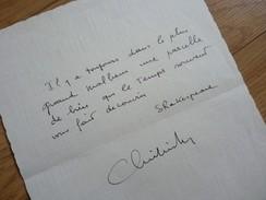 Christian ALERS (né 1922) Acteur THEATRE De BOULEVARD ... AUTOGRAPHE - Autogramme & Autographen
