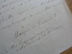 Fernand DE PERROCHEL (1843-1881) Maire GRANCHAMP. Député MAMERS (72). AUTOGRAPHE - Autographes