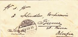 Kleiner Brief-Rumänien-Schweiz/Biel-1893 - Covers & Documents