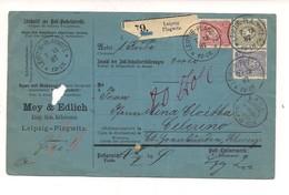 214 GERMANIA GERMANY DEUTSCHES REICH POST 1887 LEIPZIG PLAGWITZ  COVER - Germania