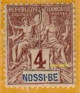 Nossi-Bé 1894 P 29 Avec Charnière