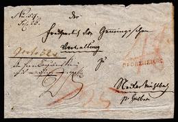 A4335) Vorphila Briefvorderseite Mit Rotem Einzeiler PFORZHEIM.R2 - Deutschland