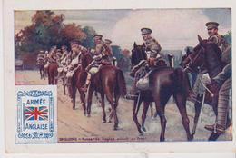 Image 6.5x10 (Bon Point ) Militaria . ARMEE ANGLAISE . En Guerre : Hussards Anglais Allant Au Front - Old Paper