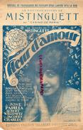 PARTITION MUSICALE- MISTINGUETT AU CASINO DE PARIS- FLEUR D' AMOUR- EDITIONS SALABERT-QUAND BOUDDHA SOURIT- LUCIEN BOYER - Partitions Musicales Anciennes