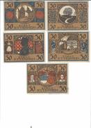 5 NOTGELD DER STADT  ETTENHEIM  50  PFENNIG  ( 5 DIFFERENT PIECES)  1922   WEIMAR   DEUTSCHLAND  - GERMANIA - Collections