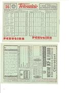 237 SCHEDINA TOTOCALCIO 1952 LOTTERIA PUBBLICITA' NUOVA PERFETTA - Non Classificati