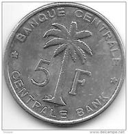 *belgian Congo Rwanda-urundi 5 Francs 1956  Km 3  Vf+ - Congo (Belge) & Ruanda-Urundi