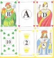 6 Cartes Publicitaires As Roi Dame Valet (B) 10 Et 2 - Cartes à Jouer Classiques