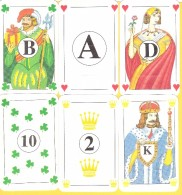 6 Cartes Publicitaires As Roi Dame Valet (B) 10 Et 2 - Speelkaarten
