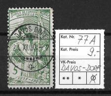 1900 2. Juli, 25 Jahre Weltpostverein / Jubilé De L´U.P.U.   ►SBK-77A, DAVOS-DORF 21.XI.00◄ - 1882-1906 Coat Of Arms, Standing Helvetia & UPU