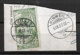 1900 2. Juli, 25 Jahre Weltpostverein / Jubilé De L´U.P.U.   ►SBK-77B, THUSIS 5.IX.00 UND HINWEIL 6.IX.00◄ - 1882-1906 Wappen, Stehende Helvetia & UPU