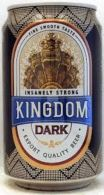 Cambodia Cambodge KINGDOM DARK Empty 330ml Beer Can / Opened At Bottom - Cannettes