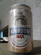 Cambodia Cambodge KINGDOM MAX Empty 330ml Beer Can / Opened At Bottom - Cannettes
