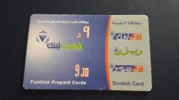 Jordan-fastlink Prepiad Card-(9jd)-used Card+1card Prepiad Free - Jordanien