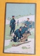 Chromo Champenois Didactique Militaire Allemagne Pionniers Casque Pointe Pont Carabine Sabre Baionnette Lire Dos - Ohne Zuordnung