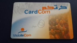 Jordan-mobile Com-card Com-(5jd)-(3)-used Card+1card Prepiad Free - Jordanien