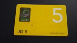Jordan-zain Card-(jd5)-used Card+1card Prepiad Free - Jordanien
