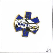 PIN´S Médical / Santé - Ambulance Du Samu 91. Estampillé Arthus Bertrand. Zamac. T471-24 - Medical
