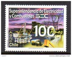 Chili Chile 1678 Electricité Et Pétrole , Camion , Plate-forme Off-shore