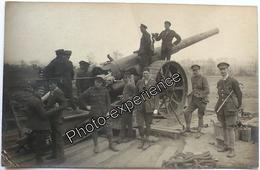 CPA Carte Photo Guerre 14-18 Militaire Anglais Artillerie Front British UK Military Artillery WW1 - Guerre 1914-18