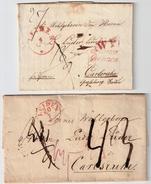 "1835, NL Nach Baden, Klar "" Franco Grenze ""   , #6762 - Niederlande"