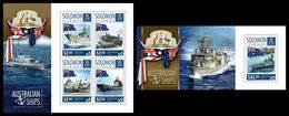 SOLOMON Isl. 2014 - Ships, Ostrich - CV = 27 €