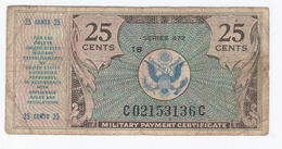USA - Military Payment Certificate 25 Cents - Serie 472 - Military Payment Certificates (1946-1973)