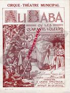 87 - LIMOGES - PROGRAMME CIRQUE THEATRE MUNICIPAL-ALI BABA OU LES 40 VOLEURS- LA VIERGE FOLLE- HENRI BATAILLE- 1927-1928 - Programs