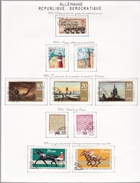 Allemagne - Collection Vendue Page Par Page - Timbres Oblitérés/neufs * (avec Charnière) - Qualité B/TB - [6] République Démocratique