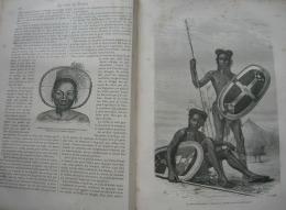 TOUR DU MONDE 1874: AU COEUR DE L'AFRIQUE/LES NIAMS-NIAMS/TATOUAGES/BIERE D'ELEUSINE/TABAC - Zeitschriften - Vor 1900