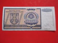 X1- 1 000 000 Dinara 1993. Republic Of Serbian Krajina, Knin-One Million Dinars -Circulated - Croatia