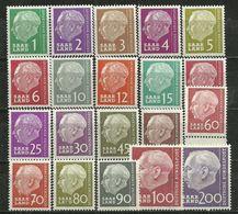 Saarland, 380-99, Postfrisch - 1957-59 Federazione