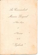 Très Rare Canonnière La VIGILANTE Carte 1924 Mise à L'eau De La Vigilante Commandant Maurice Longaud  Flotille SI-KIANG - Documents Historiques