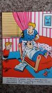 CPSM ILLUSTRATEUR  LES ENFANTS SANS COMPLEXE 657 ED BORDE CUILLEREE D HUILE DE FOIE DE MORUE - Humour