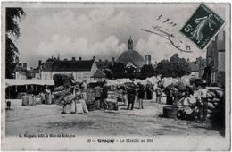 Graçay Cher Marché Au Blé Grosse Animation 1909 état Superbe TOP - Graçay