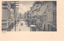 Curacao  Mooi Zicht Op Een Drukke Winkelstraat In Punda  Ca 1910 - Curaçao