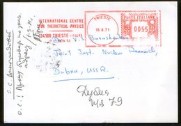 Italy Pc Meter Stamp International Centre For Theoretical Physics, Trieste - Joint Institute For Nuclear Research, Dubna - Physik