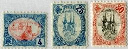 !!! COTE DES SOMALIS N°39b, 44a, 46a CENTRE RENVERSE OFFICIEL SUR EMISSION DE 1902. NEUFS CHARNIERE TRES PROPRE - Côte Française Des Somalis (1894-1967)
